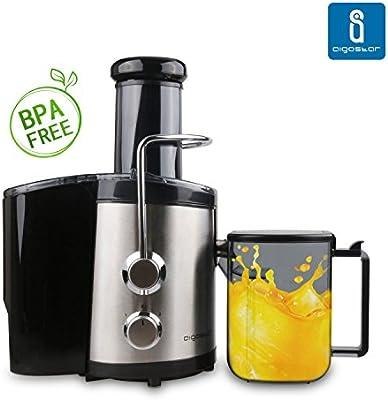 Aigostar MyFrappe Black 30IMX - Licuadora para verduras, vegetales y frutas de dos velocidades, 600 watios, 1'45l de capacidad, libre de BPA