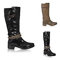 Womens Ladies Wellies Festival Wellington RAIN Knee HIGH Welly Boots Shoes