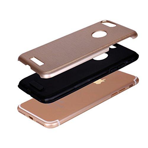 """iPhone 7Plus Schutzhülle, [Tough Armor] CLTPY iPhone 7Plus Handycase Ultra Hybrid PC & Silikon Abdeckung mit Flip [Kickstand] & Kartenschlitz, Schwarz Rüstung Harter Fall für 5.5"""" Apple iPhone 7Plus ( Gold A"""