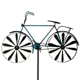 Windspiel Fahrrad Metallwindrad Bicylce Blue, Garten, Deko Windrad