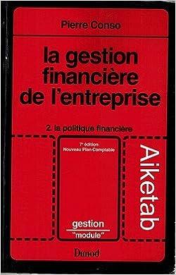 En ligne La Gestion financière de l'entreprise pdf