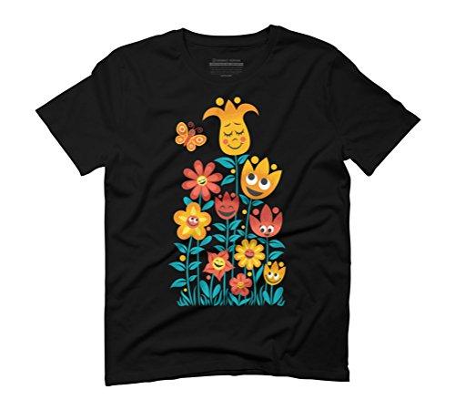Small Garden Men's Graphic T-Shirt - Design By Humans Black
