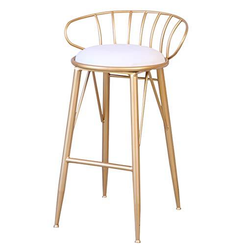 Bar-stuhl-seat-kissen (Industriestil Barhocker | Stuhl mit Rückenlehne PU-Kissen für Bar Küche Wohnzimmer Sitzhöhe: 65 cm / 75 cm (größe : Seat Height: 65cm))