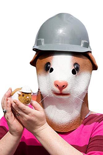 Erwachsene Tiermaske- Rattenmaske für Karneval & Halloween Wolf Kostüm Maske aus Latex Tiermaske Rattenkopf Wolf-latex-maske