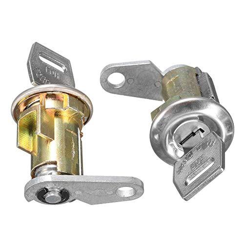 xMxDESiZ 2Pcs Metall Ersatz Türschlosszylinder mit 2 Schlüsseln für Ford Mercury Truck