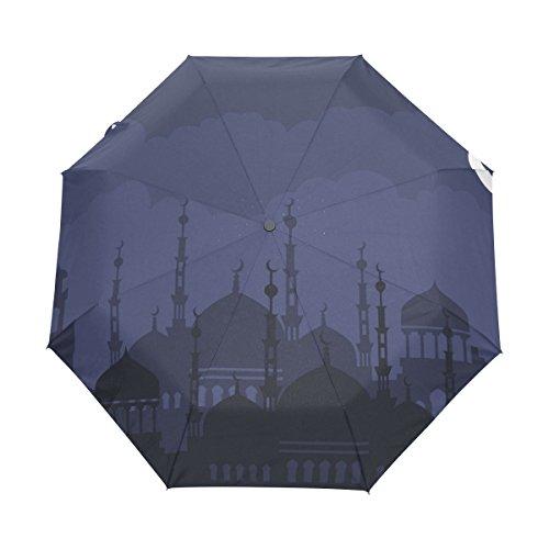 COOSUN Arabische Nacht Automatik 3 Folding Sonnenschirm-Regenschirm Farbe # 001