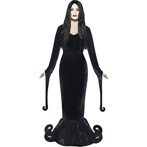 Damen Morticia Addams Family, Gothic, Halloween-Kostüm (Munsters Halloween-kostüme)