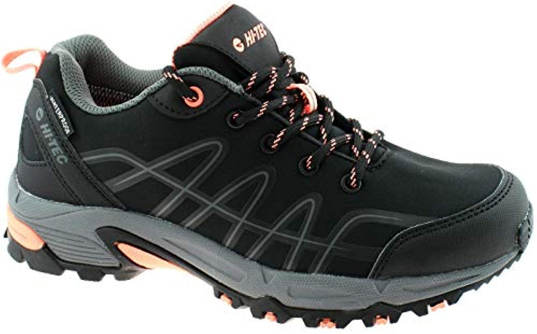 Hi-Tec Ladies Corvus Low Waterproof Multi Sport Walking scarpe nero Coral UK7 EU 40 | Qualità primaria  | Uomini/Donne Scarpa