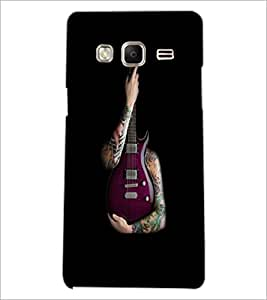 PrintDhaba Guitar D-5531 Back Case Cover for SAMSUNG Z3 (Multi-Coloured)