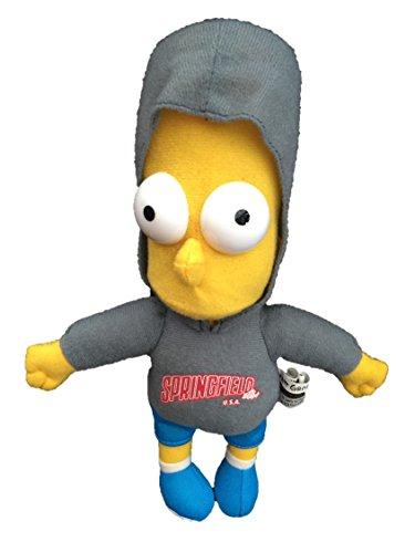 """Bart Simpson Wearing Grey Springfield U.S.A Hoodie - 11"""""""