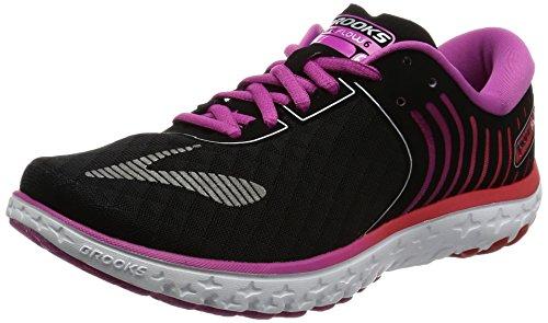 Brooks Damen PureFlow 6 Laufschuhe Mehrfarbig (Black/roseviolet/bittersweet)
