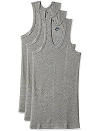 Dollar Bigboss Men's Cotton Vest (Pack Of 3) (8902889480657_MDVE-02-BB-DERBY-GREY MELANGE_85_Grey Melange)