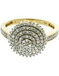 Damen-Ring 14 Karat (585) Gelbgold Diamant