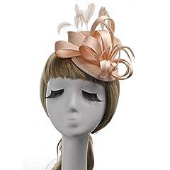 Idea Regalo - YUN MY GIRL Cappelli, signore chic velo da sposa glamour cappello vestito cappello cappello costume da sposa derby tea party cocktail cappello accessori copricapo copricapo (Color : Rosa)