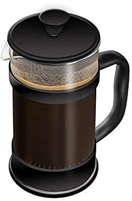 French Coffee Press ,Black - 34 oz (1 Litre) Espresso and Tea Maker with Triple Filters, Stainless Steel Plunger and Heat Resistant Glass - by Utopia Kitchen from Utopia Kitchen