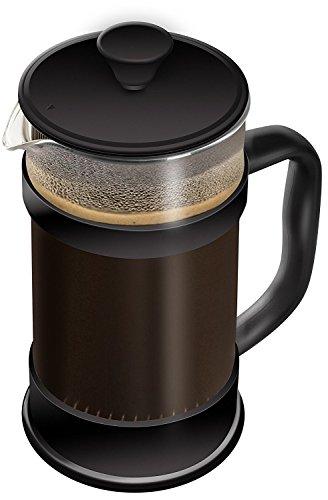 Kaffeebereiter mit Edelstahlfilter - Französische Kaffeepresse - French Press System 34 oz (1L,...