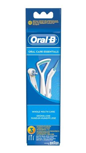 Braun Oral-B Oral Care Essentials Aufsteckbürsten Kit, 3 Stück