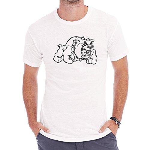 Dog Pets Puppies Animal Pump Angry Herren T-Shirt Weiß