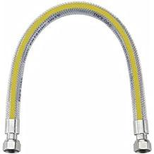 Tubo flexible para gas de acero inoxidable revestido con corrugado amarilla 1/2 x