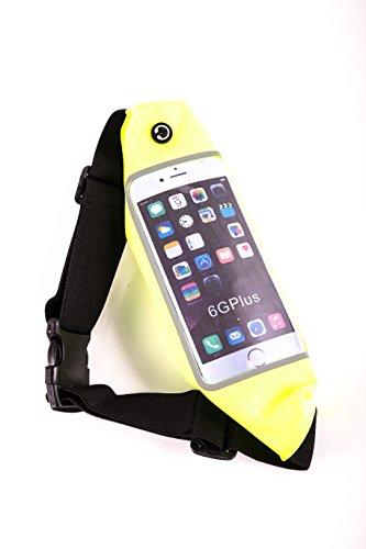BERTRONIC ® Sport - Bauchtasche - Gelb - für Smartphone, Handy, MP4/MP3 Player, iPhone/iPod, Samsung, LG - passend bis 5,7