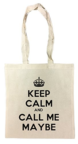 Keep Calm And Call Me Maybe Einkaufstasche Wiederverwendbar Strand Baumwoll Shopping Bag Beach Reusable