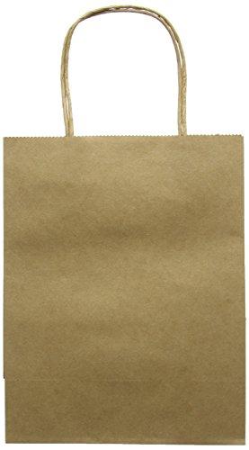 docrafts Bare Basics papel de estraza bolsa de regalo de tamaño grande, 5 unidades
