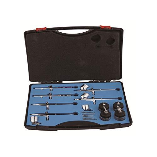 Professionelles Airbrush-Set, 6 verschiedene Modelle, Luftkompressor-Zubehör zum Modellieren von Lackierarbeiten, Hochdruckwasser-Hautpflege und Basteln (Vi-hautpflege-system)