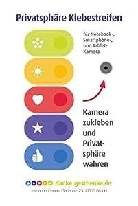 Bunte Privatsphäre Klebestreifen. Kamera abkleben, für Smartphones, Notebooks, Tablets - Kleines Dankeschön Geschenk
