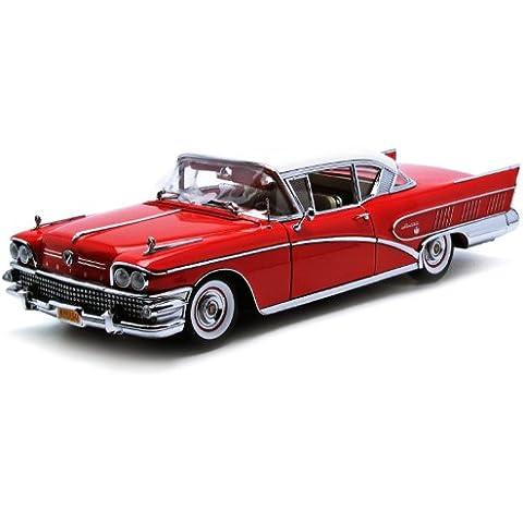 Sun Star H4803 1:18 Modellino Auto 1958 Buick Limited Riviera Coupe - Dusk Rose Body - Buick Riviera Set
