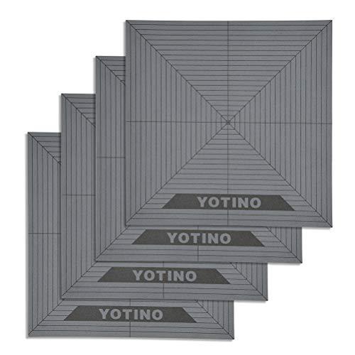 YOTINO 3D Druckplatte Aufbau Oberfläche für erhitztes beheiztes Bett 4Pcs mit 3M Klebeband Kompatibel mit ABS, PLA, HIPS, PETG, TPE, Nylon, PC usw.(20x20cm)