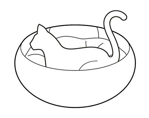 Panier avec coussin pour petit chat ou chien, en bleu