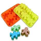 FantasyDay® 6er Silikon Backform / Muffinform für Muffins, Cupcakes, Kuchen, Pudding, Eiswürfel und Gelee - Weihnachten Snowmans