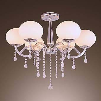 Moderno elegante 6 lampadario con paralume globale buy for Lampadario amazon