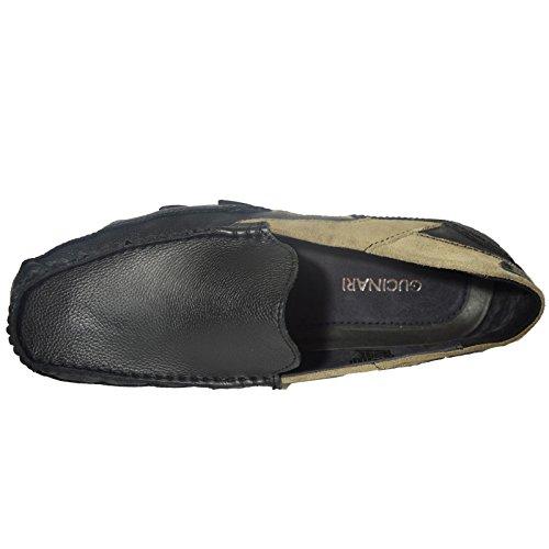 100% Leder Fahrer Schuhe Herren Neue Mode Halbschuhe Freizeitschuhe Schwarz Khaki