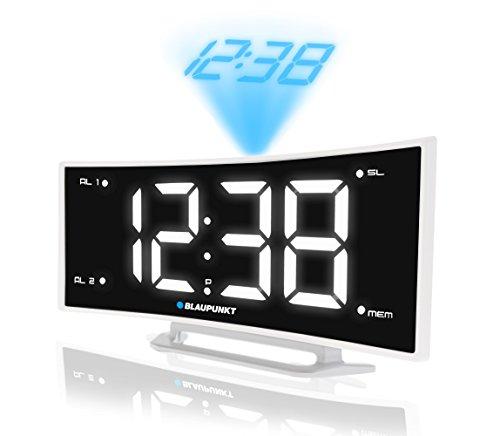Blaupunkt CRP7WH Radiogerät mit Projektor Uhrenradio LCD Radio Wecker