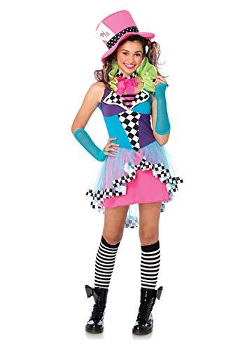 LEG AVENUE J49102 - Mayhem Hatter Kostüm Set, 3-teilig, Größe S/M, multicolor (Mayhem Kostüm)