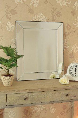 Mirror Outlet Thirlmere-  Espejo veneciano moderno, de cristal biselado, 69 x 57