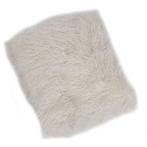 kingko® Baby hundert Tage Schießen Decke Pad Neugeborenes Baby Girl Wrap Fotografie Prop Baby Foto Prop (Weiß)