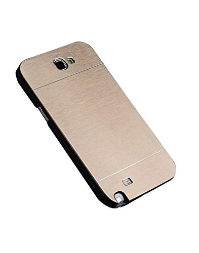 AE Brushed Metal Back Case Cover for SAMSUNG GALAXY NOTE 2 FULL GOLD  available at amazon for Rs.199