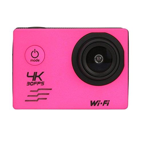 OverDose WIFI Wasserdichte Gehäuse 4K Mini Action Cam HD DV Sport Recorder Kamera Sports Camcorder, 2 inch Bildschirm (Hot Pink)
