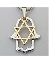Star Of David Hamsa Hand Necklace Comes In A gift Pouch