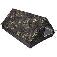 MFH Minipack BW - Tienda de campaña para 2 Personas Militar (mosquitera integrada) Multicolor Flecktarn