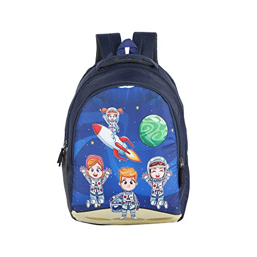 Dussle Dorf Universe Kid's 18L Backpack (Navy Blue,6-12 Year)