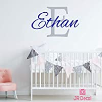 Boy name wall stickers, Custom Name initial wall sticker vinyl decal personalised boy baby nursery decor, Wall Sticker for boys, Nursery name stickers,