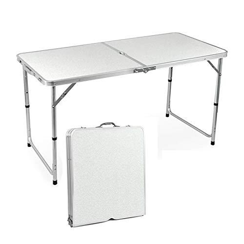 QITAO® 4ft Klapptisch Outdoor Garten Aluminium Tragbare Falten Camping Picnic Party Bereich Küche BBQ Tisch