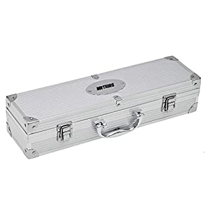 Geschenke.de Personalisierbares Grillbesteck Set mit Gravur 3-teilig - Grillbesteck im Koffer, BBQ Geschenk für Männer als personalisierte Geschenke Grillen