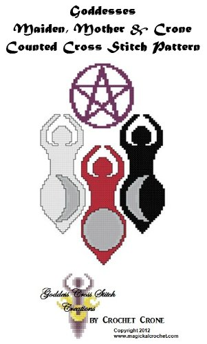 Three Phases of The Goddess Counted Cross Stitch Pattern (English Edition)