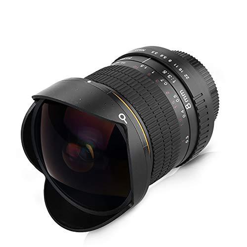 8mm F3.5 Ultra Weitwinkelobjektiv Fisheye-Objektiv Aspherical Circular Camera Lens für Nikon DSLR-Halbbildkameras,fornikon