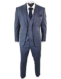 Cavani Abito 3 Pezzi da Sera da Uomo Completo Blu-Grigio Formale Elegante  Slim 62980f8ea6c
