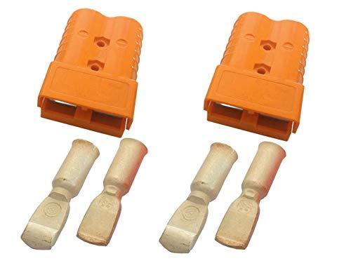 Conjunto de conectores para carretilla elevadora, conectores del cable de carga de la batería 350A 70 mm² cable de conexión naranja